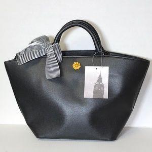 London Fog Large tote shoulder bag purse black